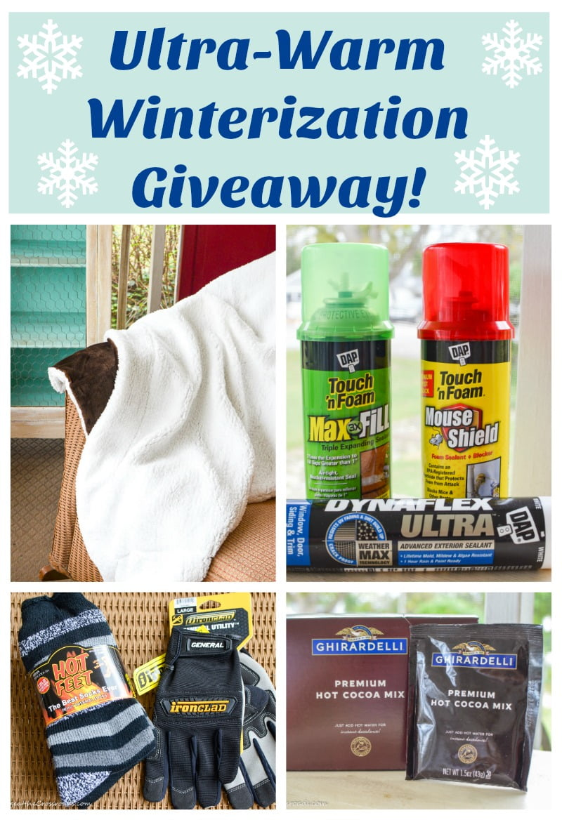 Ultra-Warm Winterization Giveaway graphic
