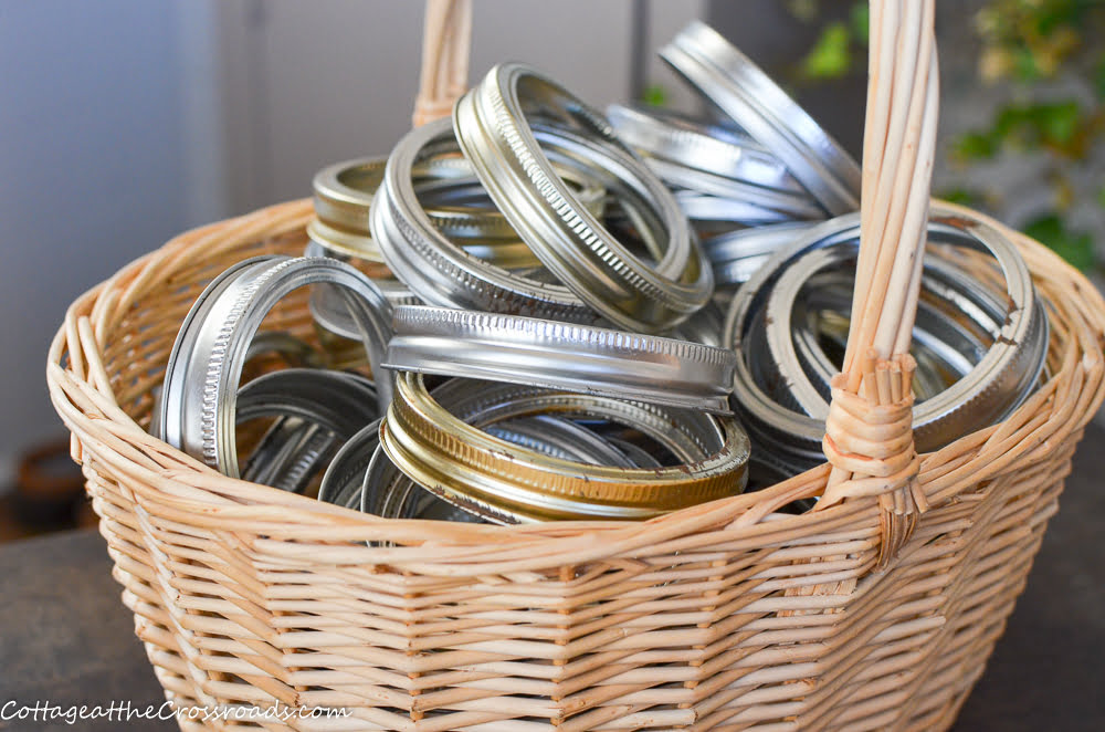 basket of canning jar bands