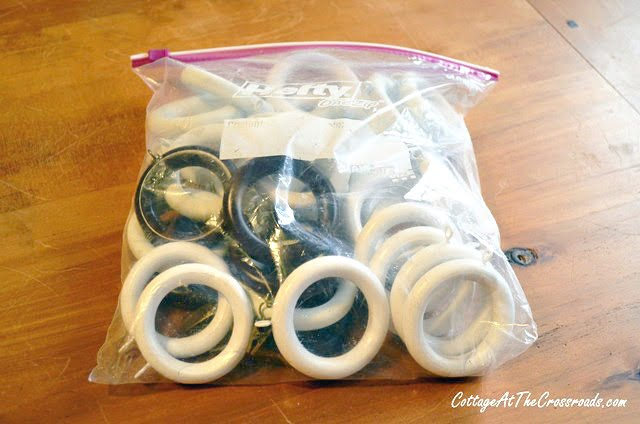 bag of wooden curtain rings