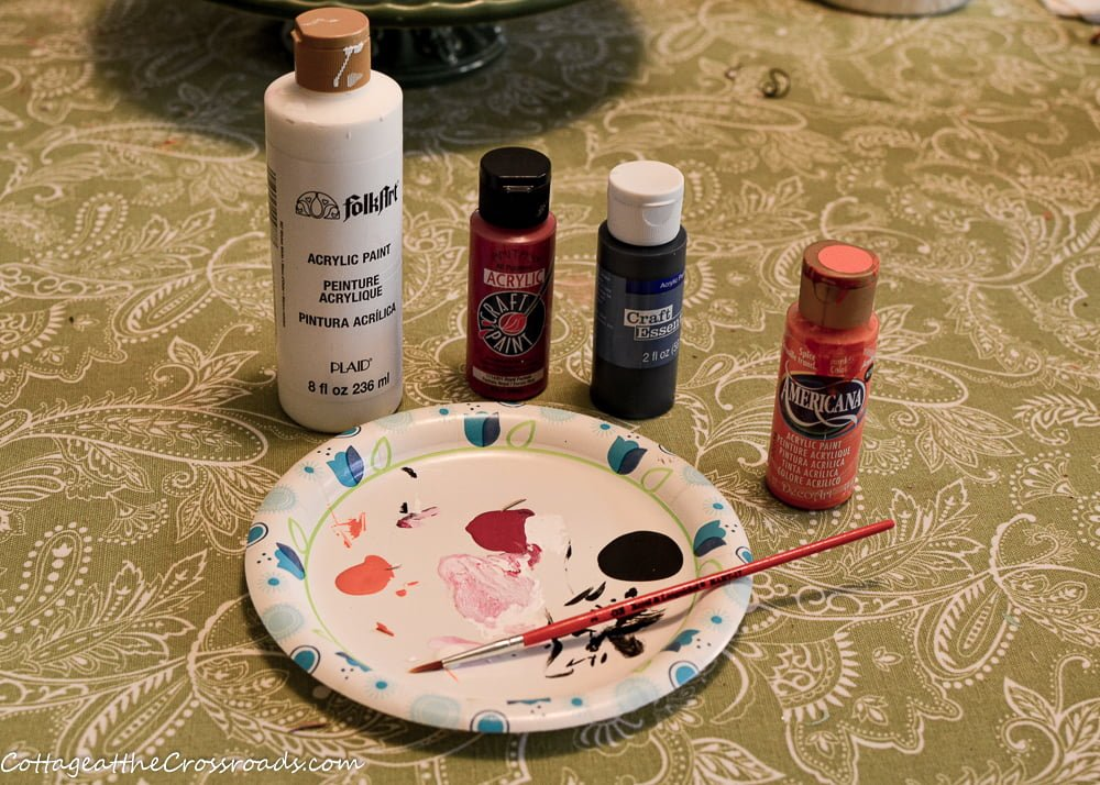 craft paints and brush