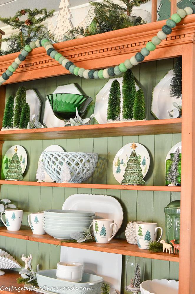 pine cupboard with Lenox Balsam Lane