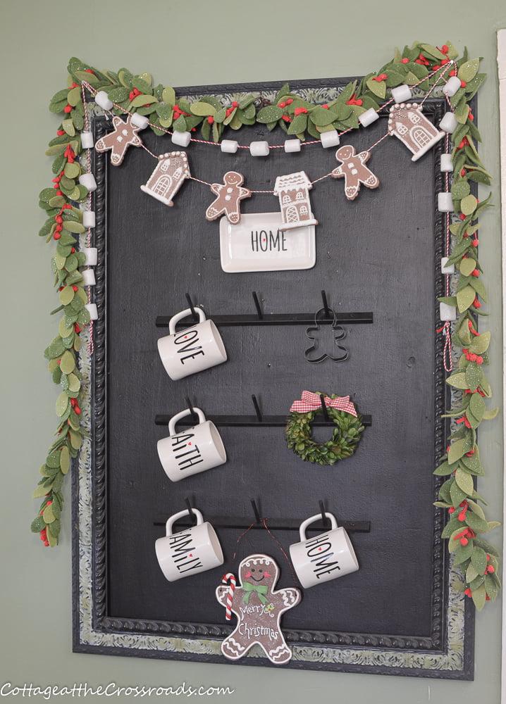 gingerbread Christmas chalkboard