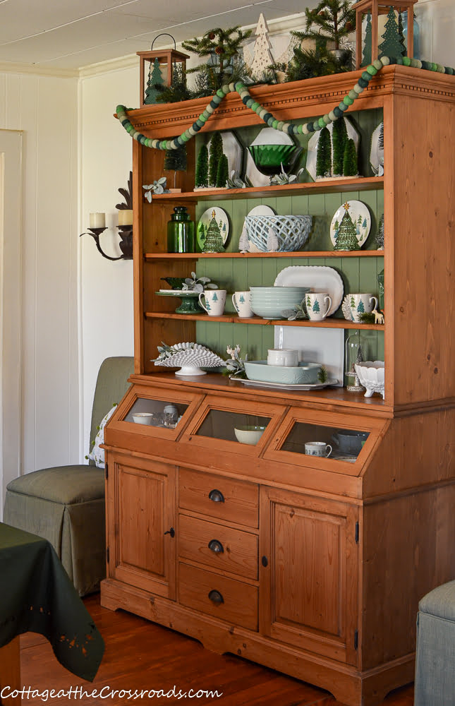 pine cupboard with Balsam Lane displayed