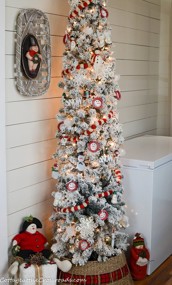 snowman tree with diy snowman ornaments