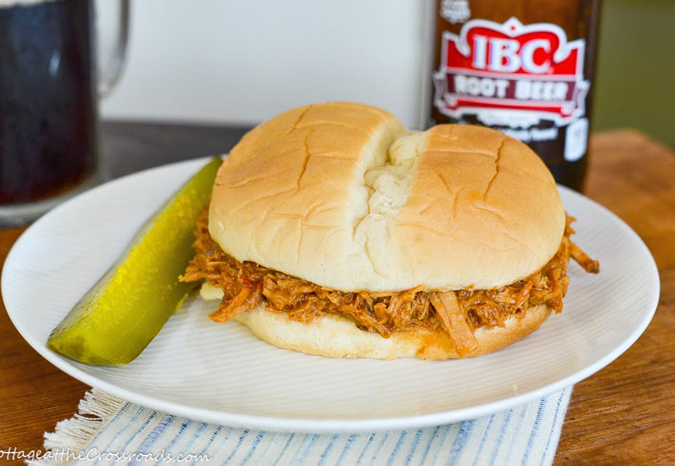 pulled pork with root beer barbeque sauce