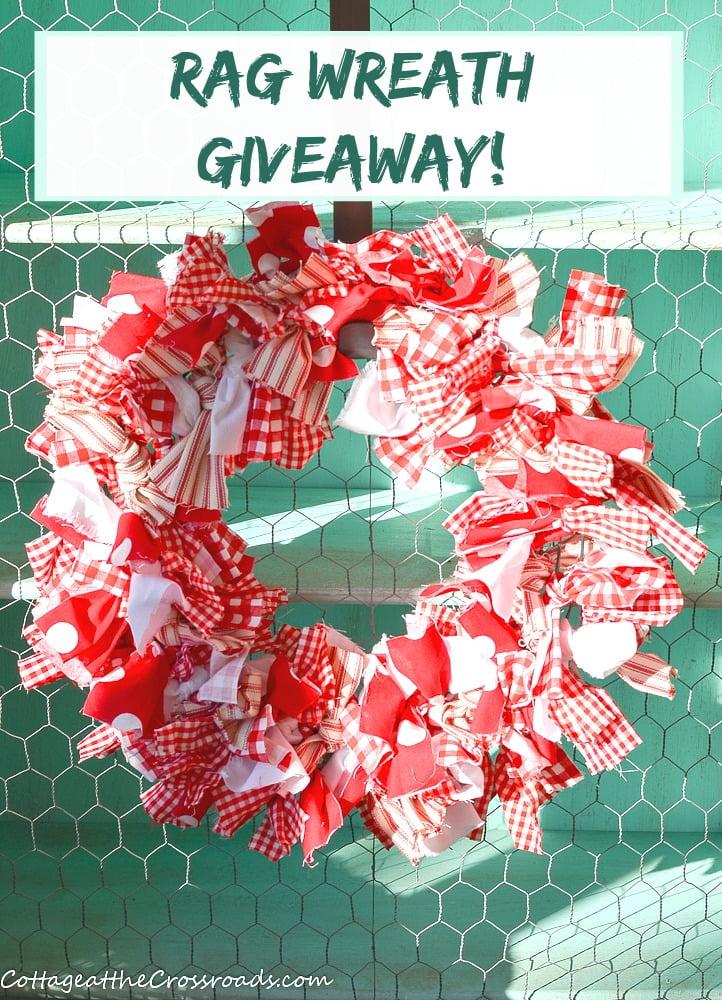 rag wreath giveaway