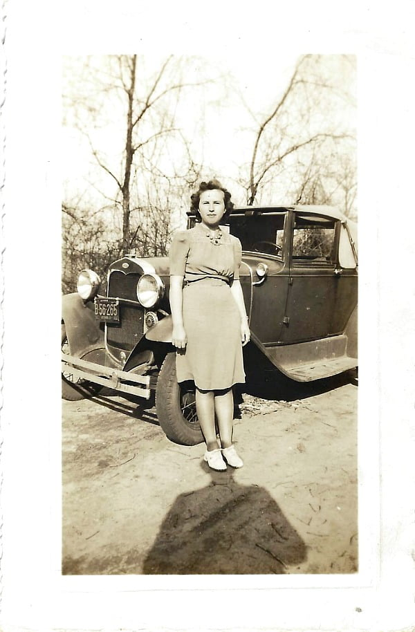 Mom as a young woman