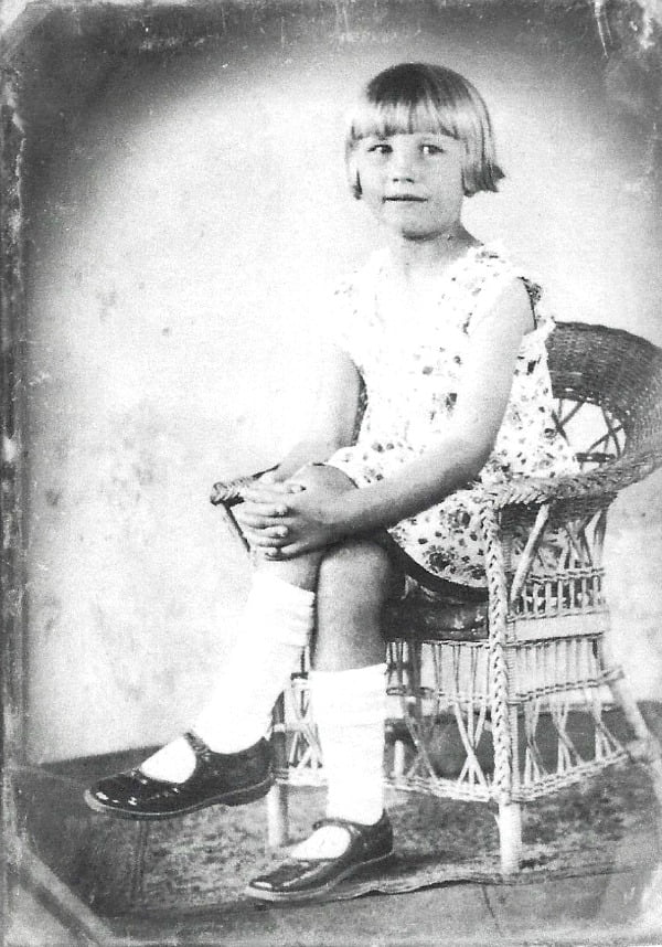 Velma Louise Prater as a young girl
