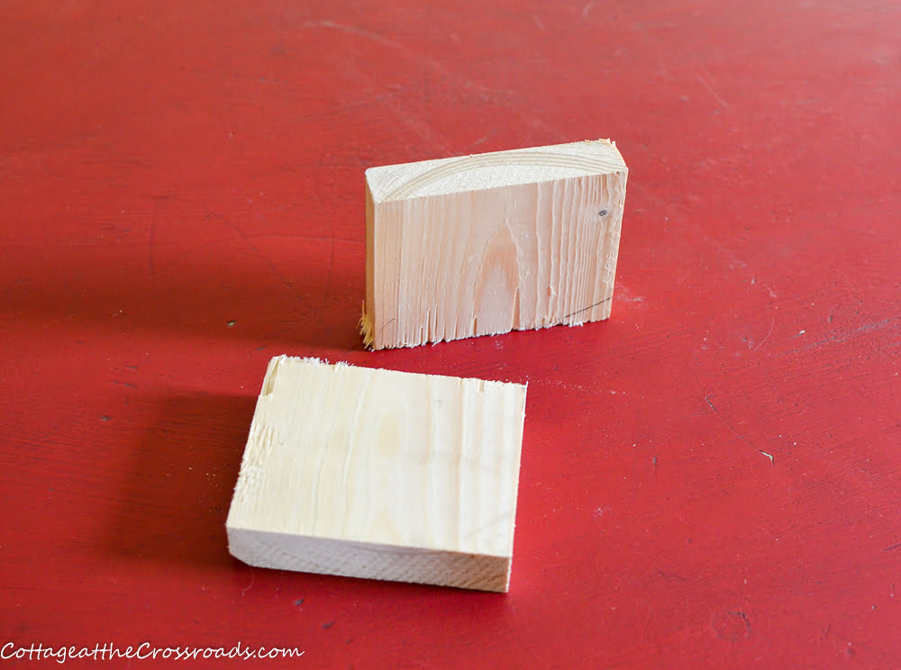 small pieces of scrap wood