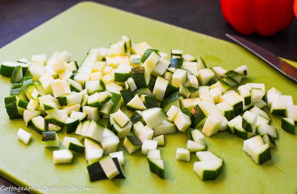 finely chopped zucchini