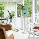 newly remodeled screen porch