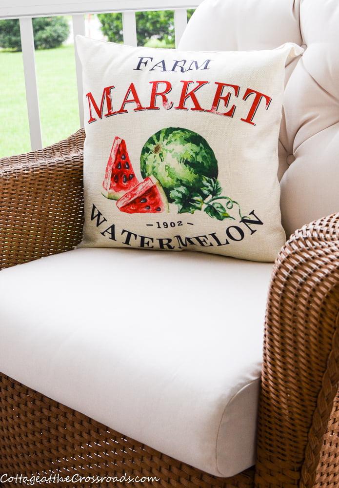 Farmer's Market Watermelon pillow