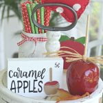 early fall apple tiered tray