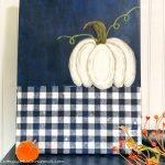 paint a white pumpkin