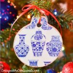wooden Chinoiserie ornament