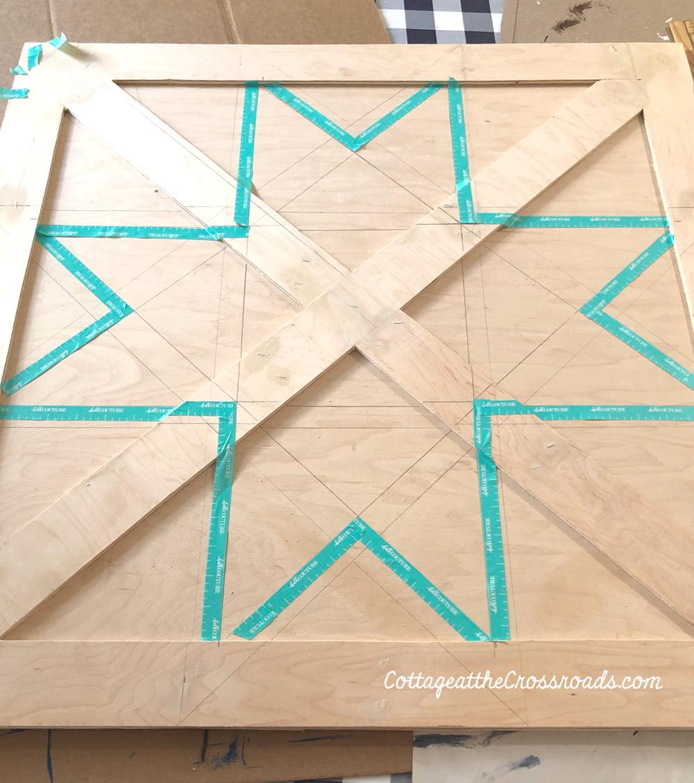 unpainted barn star quilt