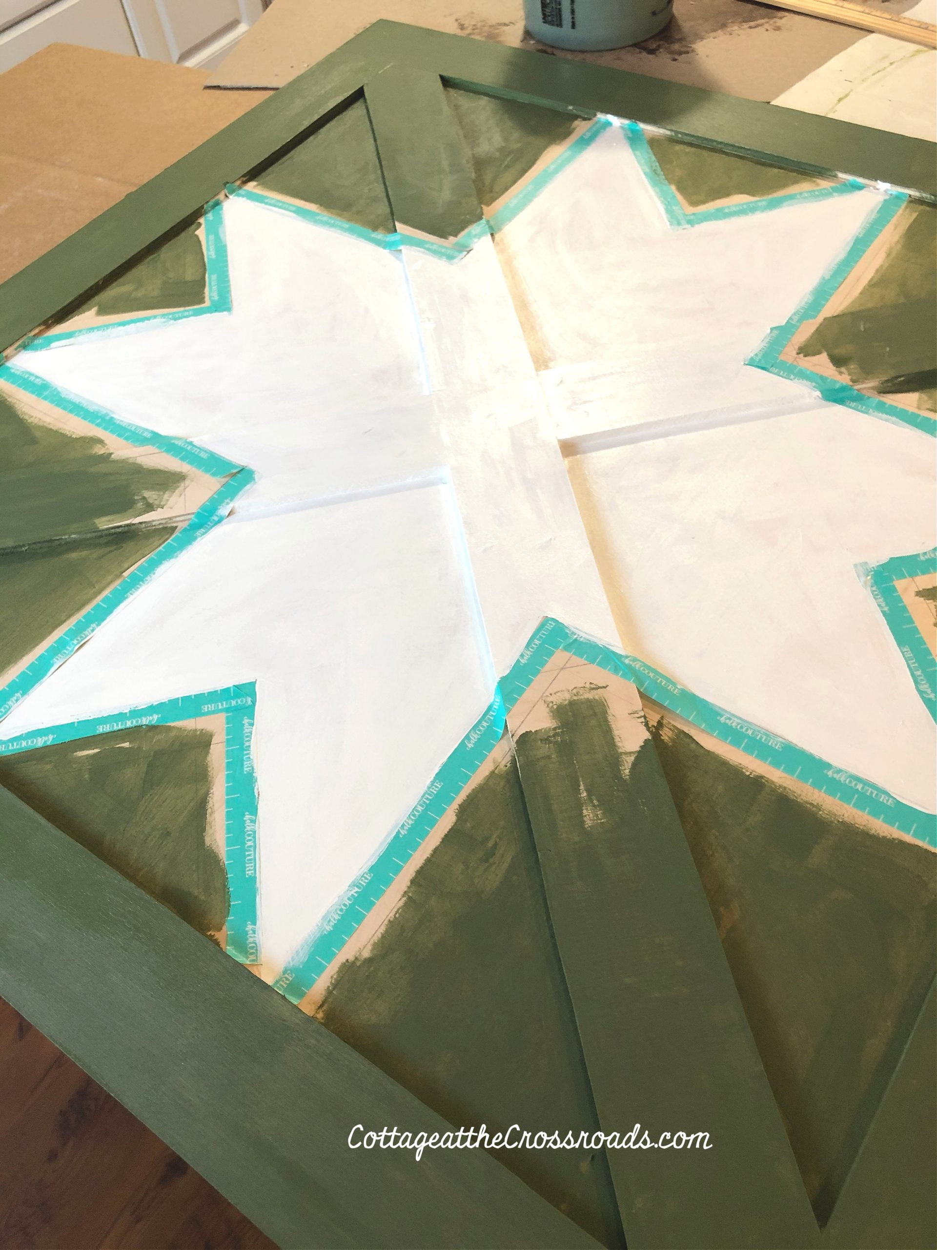 painting a wooden barn star quilt