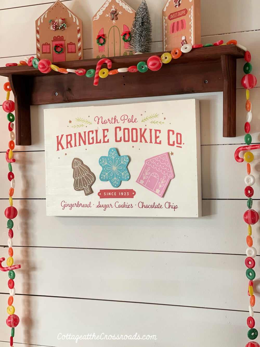 shelf and Kringle Cookie sign