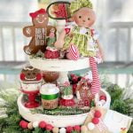 gingerbread tiered tray