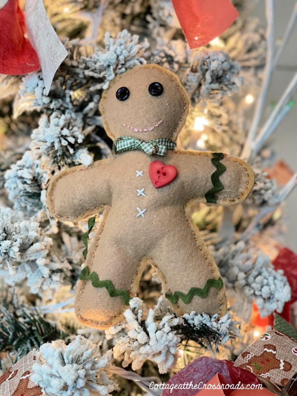 handmade gingerbread boy decoration