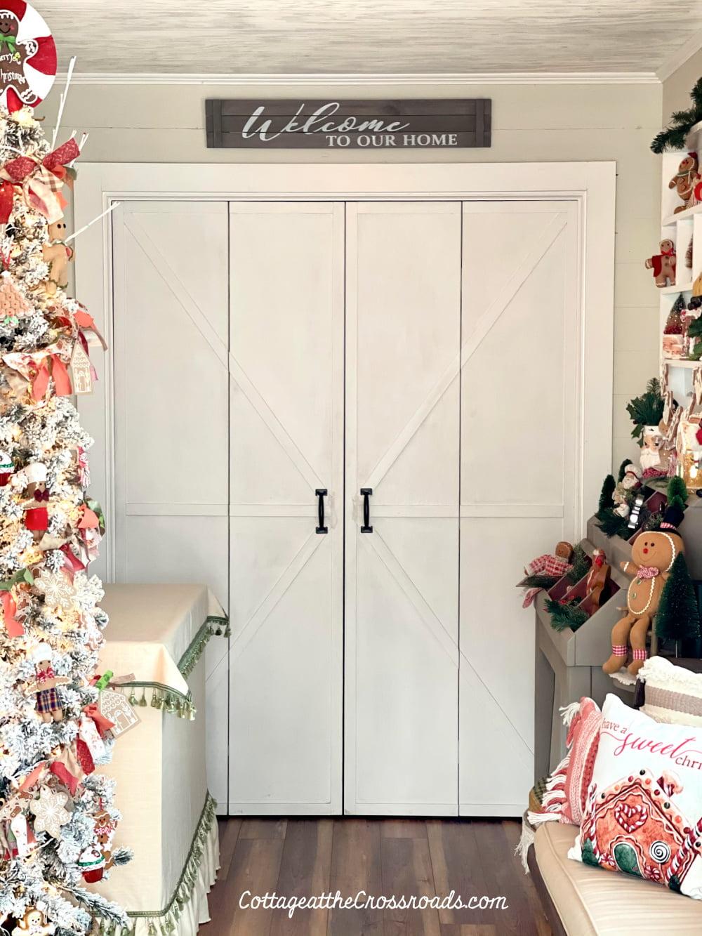 farmhouse doors to laundry