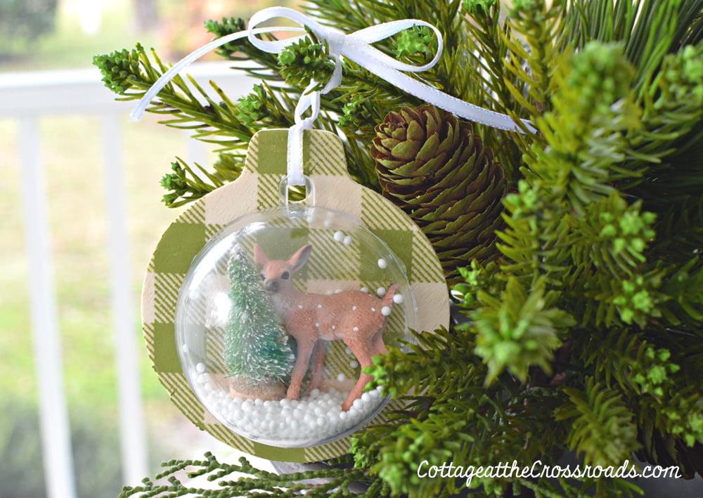 diy wooden snow globe ornament