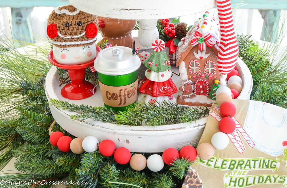 gingerbread tiered tray items