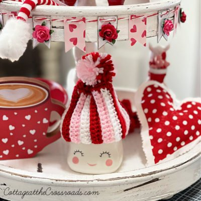 mini bunting for a tiered tray
