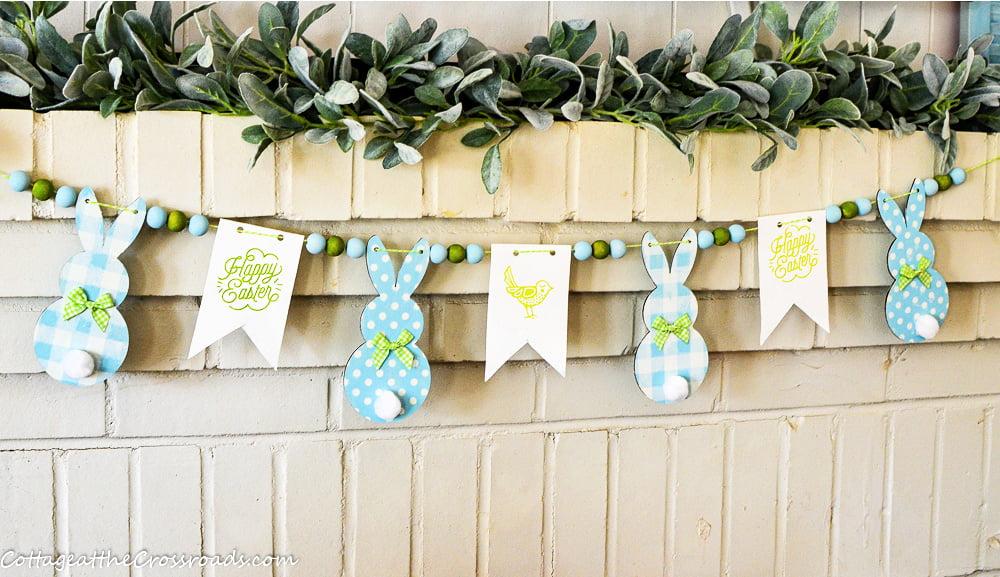 diy bunny garland with farmhouse beads