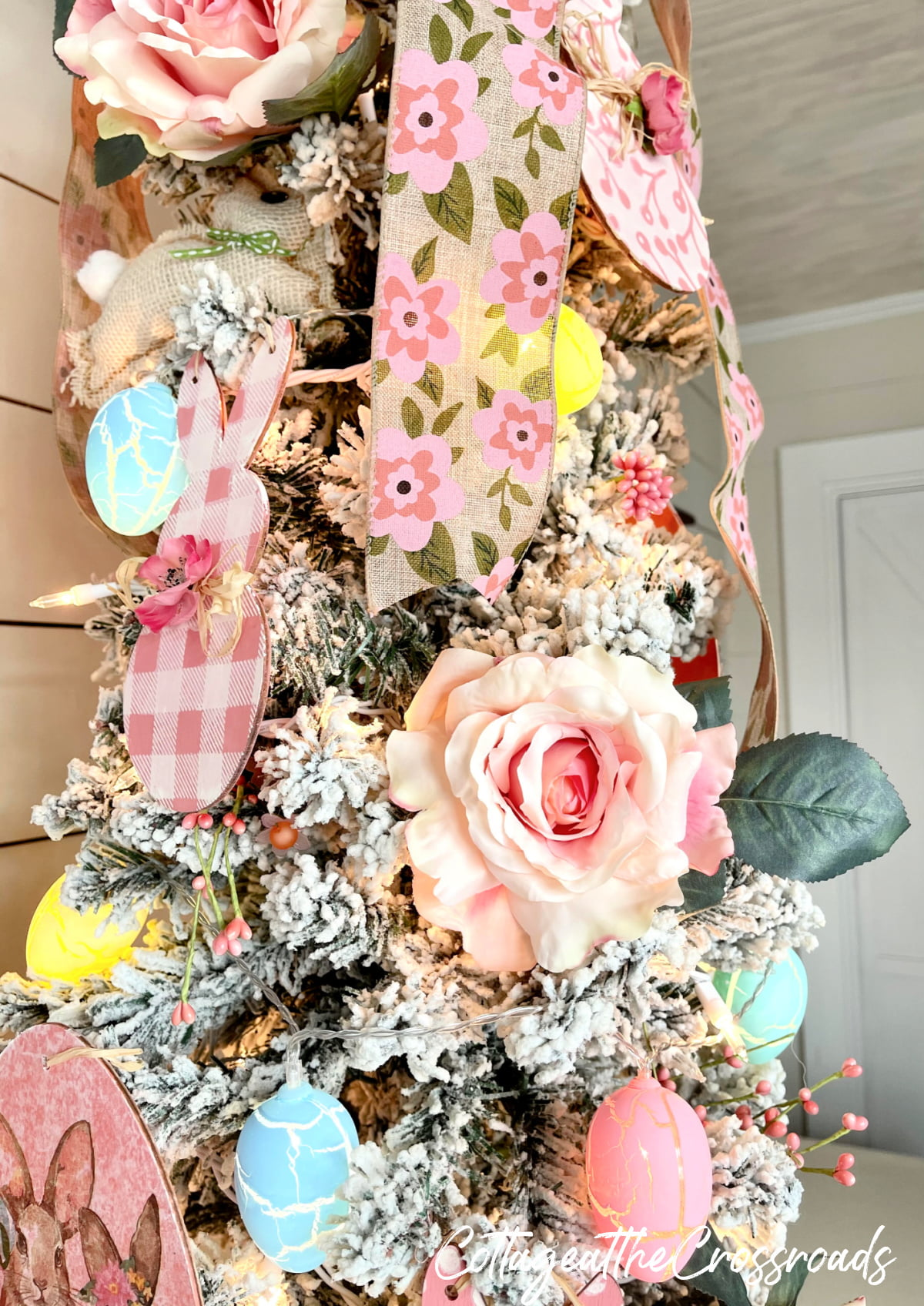part of a decorated Easter tree