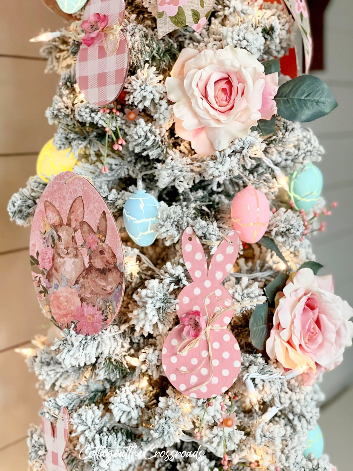 decorations on an Easter tree