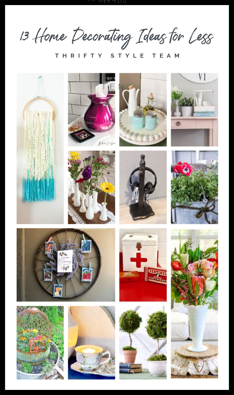 13 Home Decorating Ideas graphic