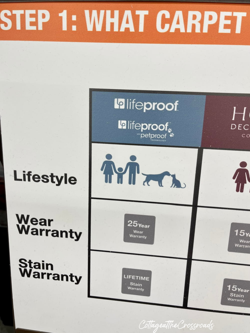 info on lifeproof petproof carpet from Home Depot