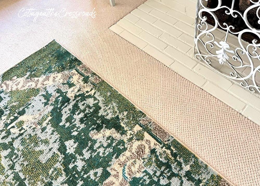 petproof carpet and blue-green area rug