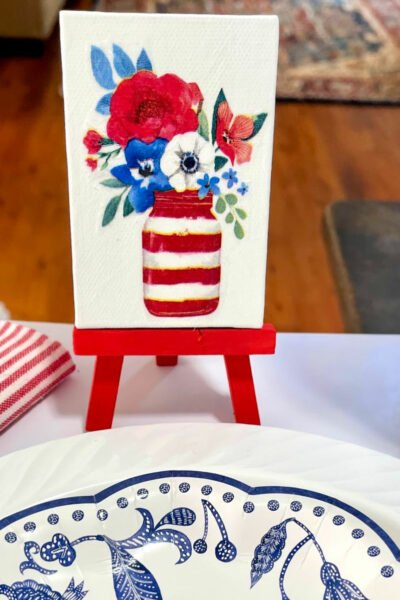 patriotic mini easel place cards