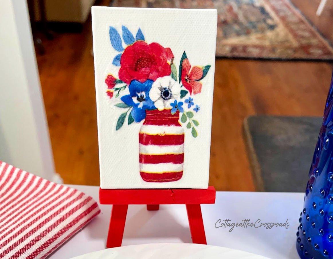 patriotic mini easel place card