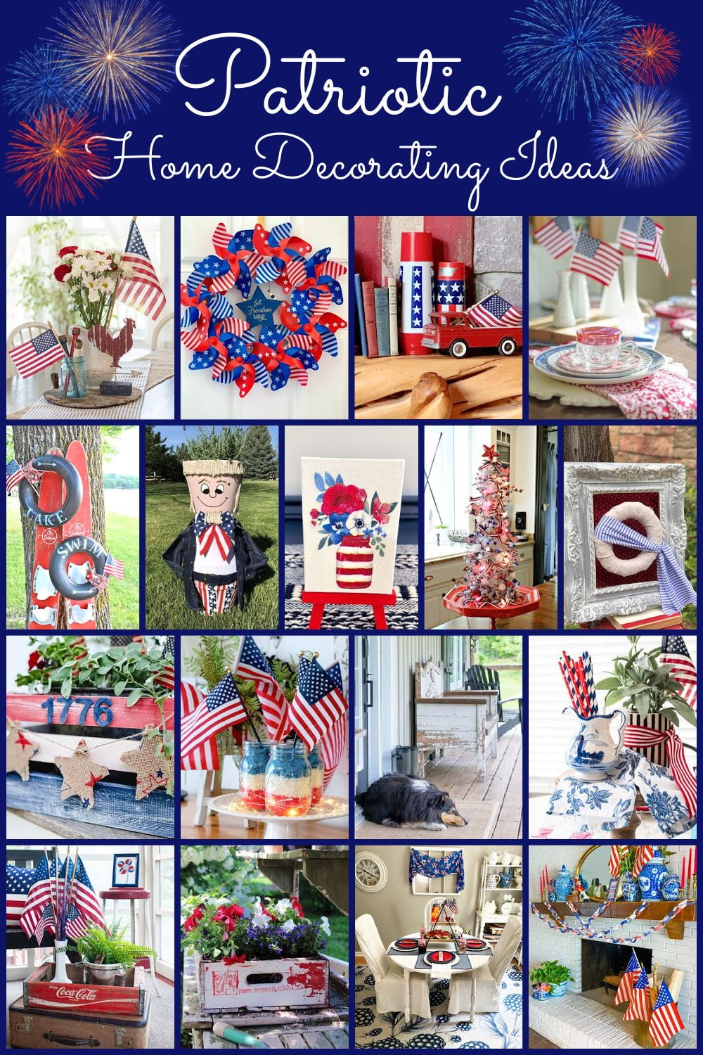 Thrifty Style Team Patriotic Home Decor graphic
