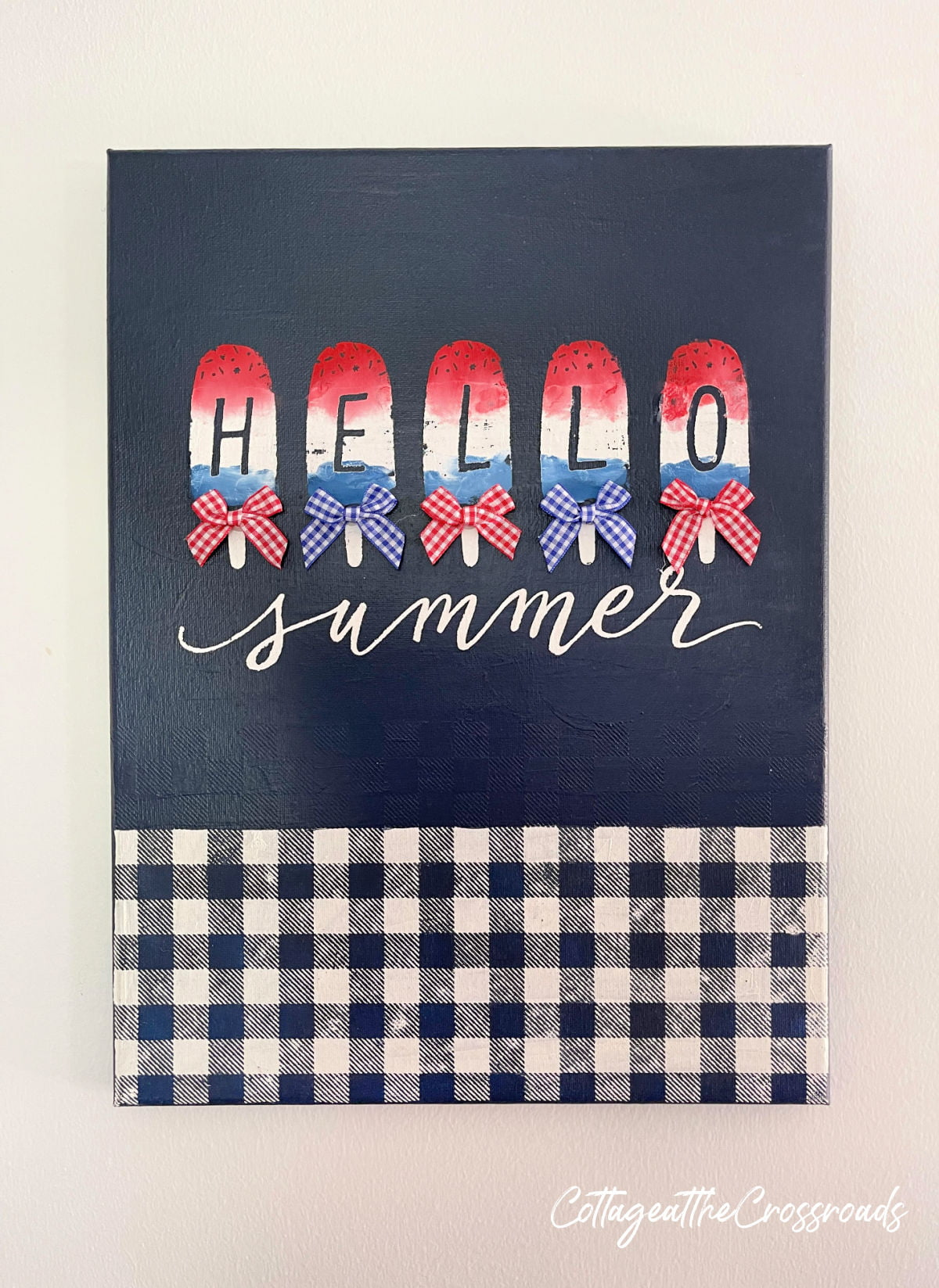 Hello Summer Chalk Couture sign