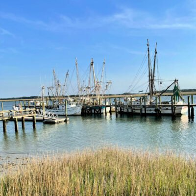 shrimp boats at Port Royal near Beaufort, SC