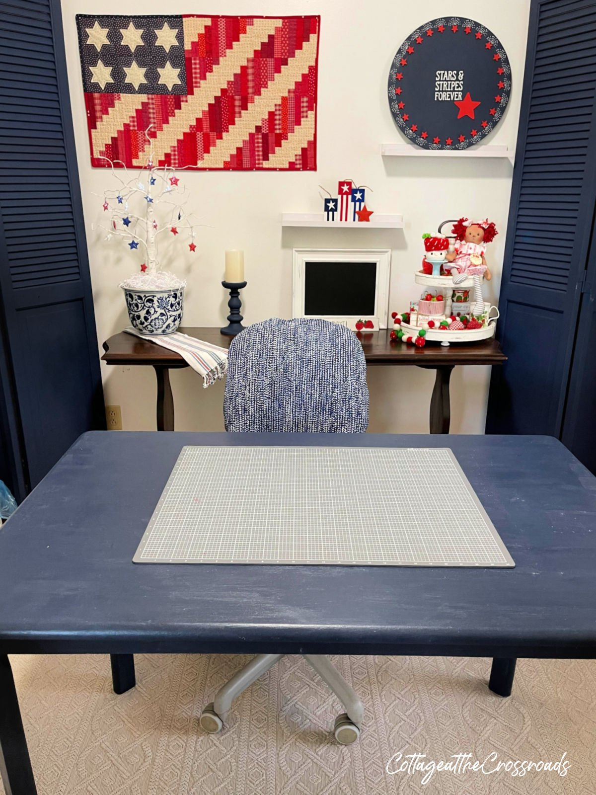 view of table in craft room