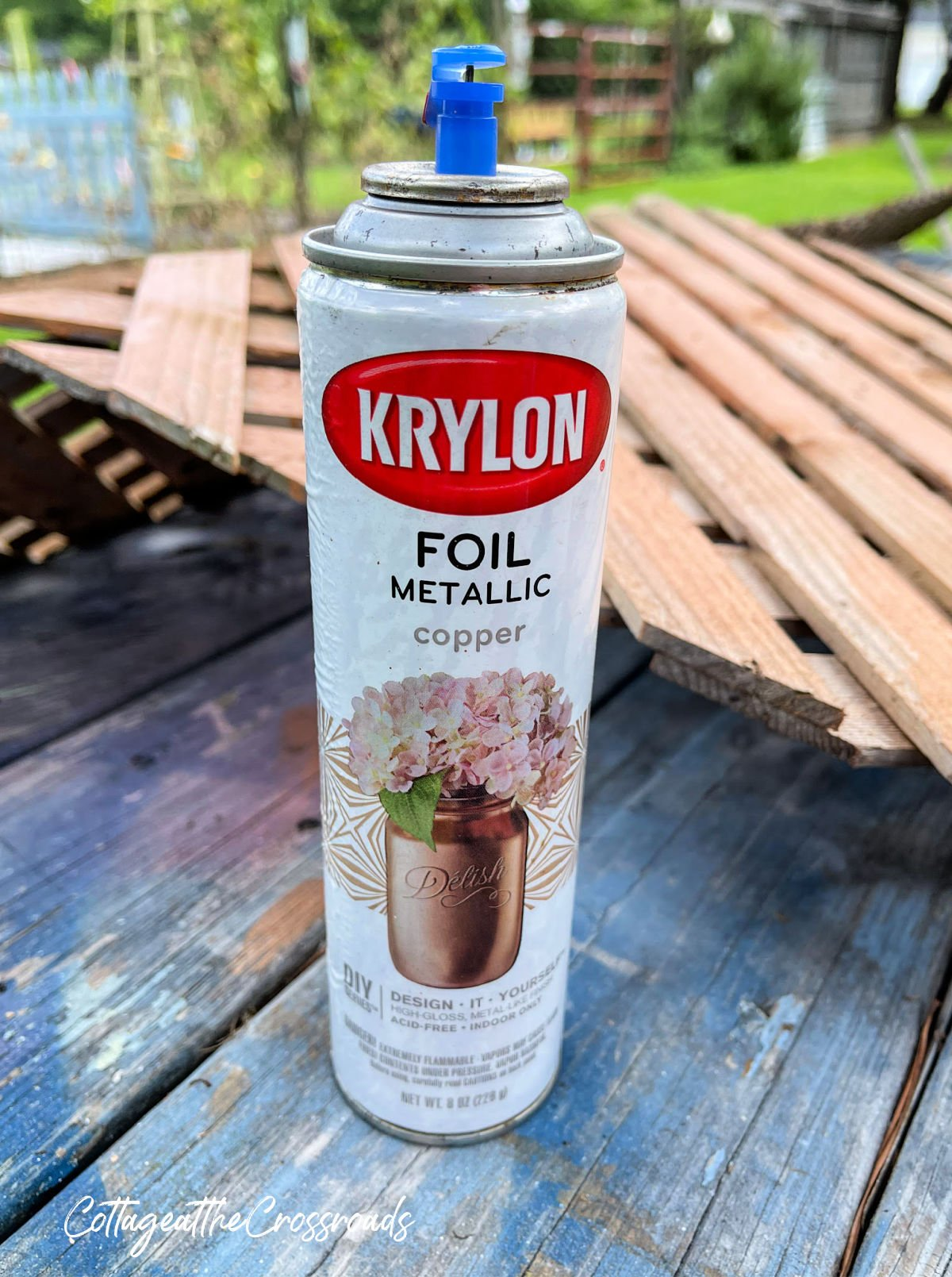 can of copper spray paint