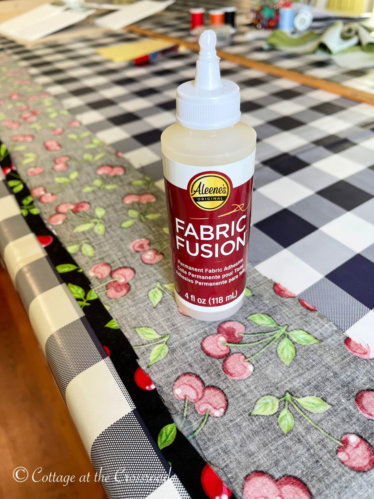 hemming with fabric fusion