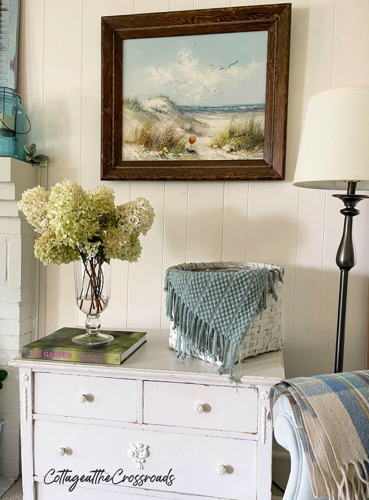 limelight hydrangeas in a vase